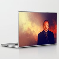 crowley Laptop & iPad Skins featuring Crowley - Supernatural by KanaHyde
