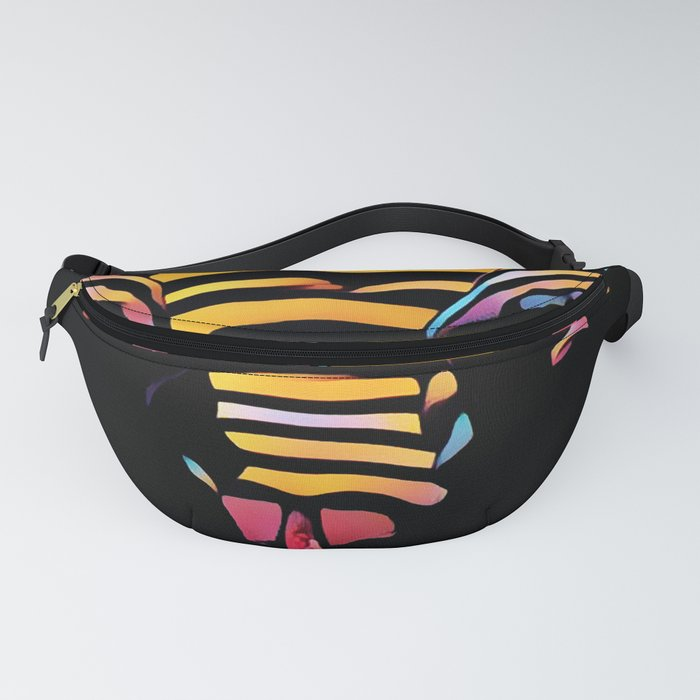 1276s-MAK Intimate Nude Abstraction Striped Torso With Hands On Thighs Fanny Pack