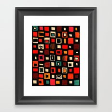 Living in a box Framed Art Print