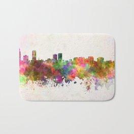 Baton Rouge skyline in watercolor background Bath Mat