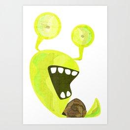 Snaily Snail Art Print