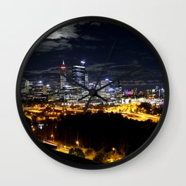 Perth Skyline of the Kings Park, Western Australia Wall Clock