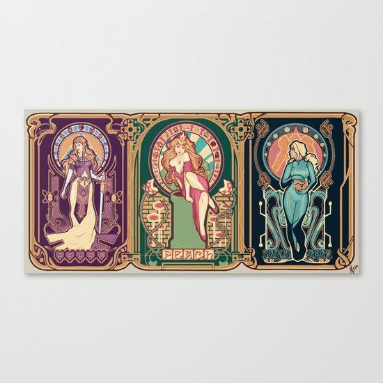 Nintendo Nouveau (art print) Canvas Print