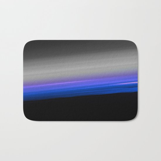 Blue Purple Grey Black Ombre Bath Mat