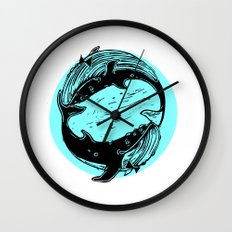 Having Fun Color (Whales) Wall Clock