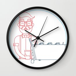 Coffee (lineart) Wall Clock