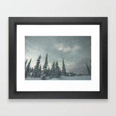 Big White Stars VI Framed Art Print