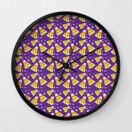 happy/sad candy corn Wall Clock