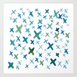 Painted X Art Print