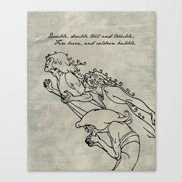 Shakespeare - MacBeth - Weird Sisters Canvas Print