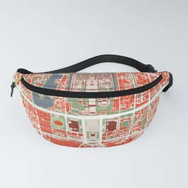 Beijing city map classic Fanny Pack