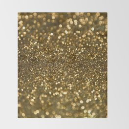 Gold Sparkle Pattern Throw Blanket