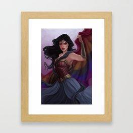Pride Flag Diana Prince Framed Art Print
