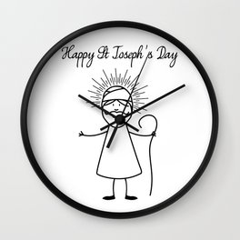 Happy Saint Joseph's Day Wall Clock