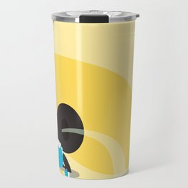 Make it up as you go along - yellow Travel Mug