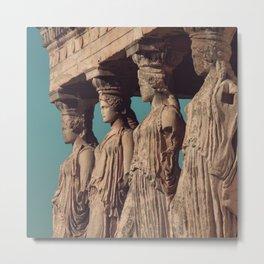 Caryatids of the Erectheum, ancient greek, Agora of Athens, Erectheum, Greece photography, Athens Acropolis Metal Print