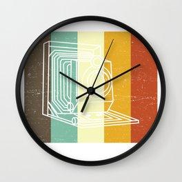 Camera Don't Be Negative Retro Colors Vintage Wall Clock