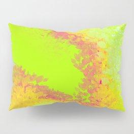 Neon space alien flowers art Pillow Sham