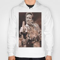johnny cash Hoodies featuring Johnny Cash by Ray Stephenson
