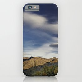 Dreams. Mountains retro. iPhone Case