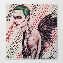 The Angel Joker (Limited Edition) Canvas Print