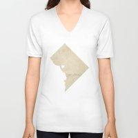 washington dc V-neck T-shirts featuring Washington, DC Love by Fercute