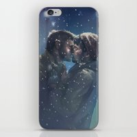 destiel iPhone & iPod Skins featuring Winter Destiel by A Midget Banana