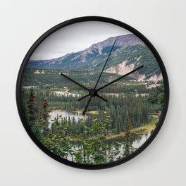 Hike in Denali National Park Wall Clock