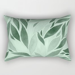 Abstract Watercolour Leaf X Rectangular Pillow