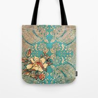 hibiscus Tote Bags featuring Hibiscus by Kriti