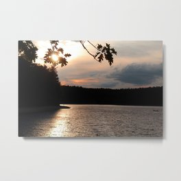 Sunset at Concord's Walden Pond 5 Metal Print