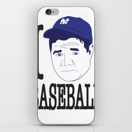 I __ Baseball iPhone Skin