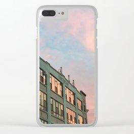 cotton candy bushwick Clear iPhone Case
