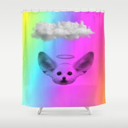 Little Angel Fennec Fox Shower Curtain