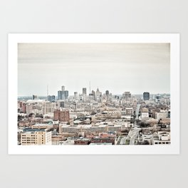 Downtown Detroit Skyline View from New Center Art Print