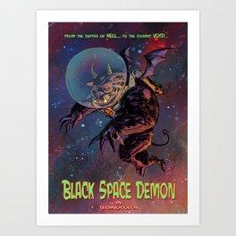 Black Space Demon Art Print