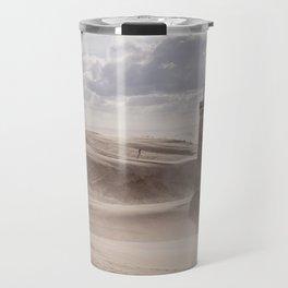 Sandstorm at the lighthouse Travel Mug