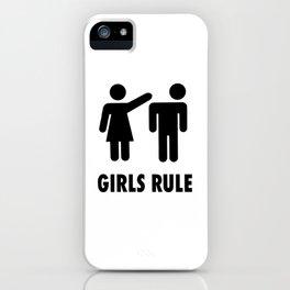 Girls Rule iPhone Case