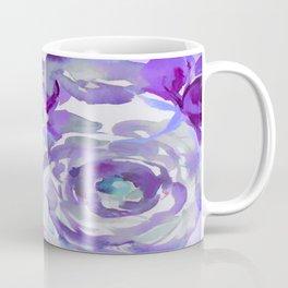Purple Haze Painterly Floral Abstract Coffee Mug
