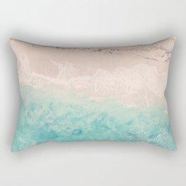 Aerial sea photography, exotic beach, fine art, wanderlust, coral reef, tropical landscape, summer Rectangular Pillow