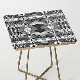 B&W Watercolor Ikat Side Table