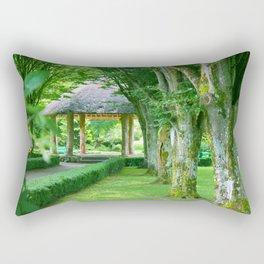 Green Gazebo Rectangular Pillow