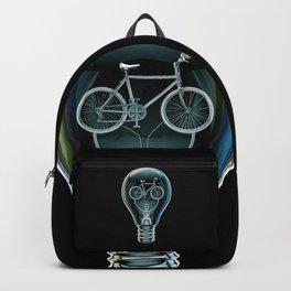 Dark Bicycle Bulb Backpack