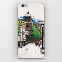 philippines iPhone & iPod Skins featuring Philippines : Santa Cruz Church by Ryan Sumo