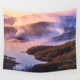 Smoky Sunrise Wall Tapestry