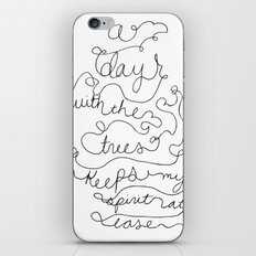 a day with the trees iPhone & iPod Skin