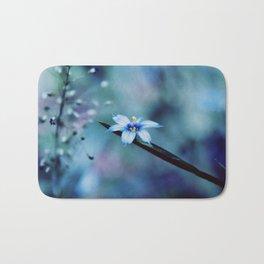 Blue on blue Flower Photography, Symphony in Blue Bath Mat