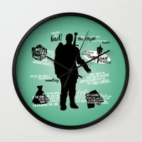 dragon age inquisition Wall Clocks featuring Dragon Age - Alistair by firlachiel