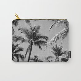 Black Palm Trees Carry-All Pouch