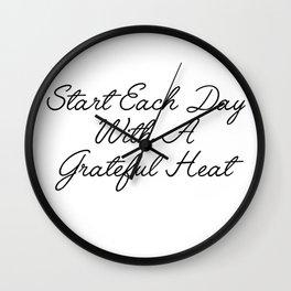 start each day Wall Clock